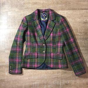 Boden British Tweed 100% Wool Plaid Blazer